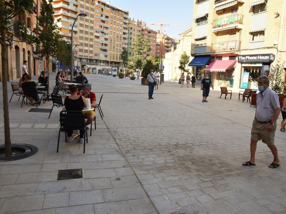 Finalizan las obras de reurbanización del Coso Bajo de Huesca