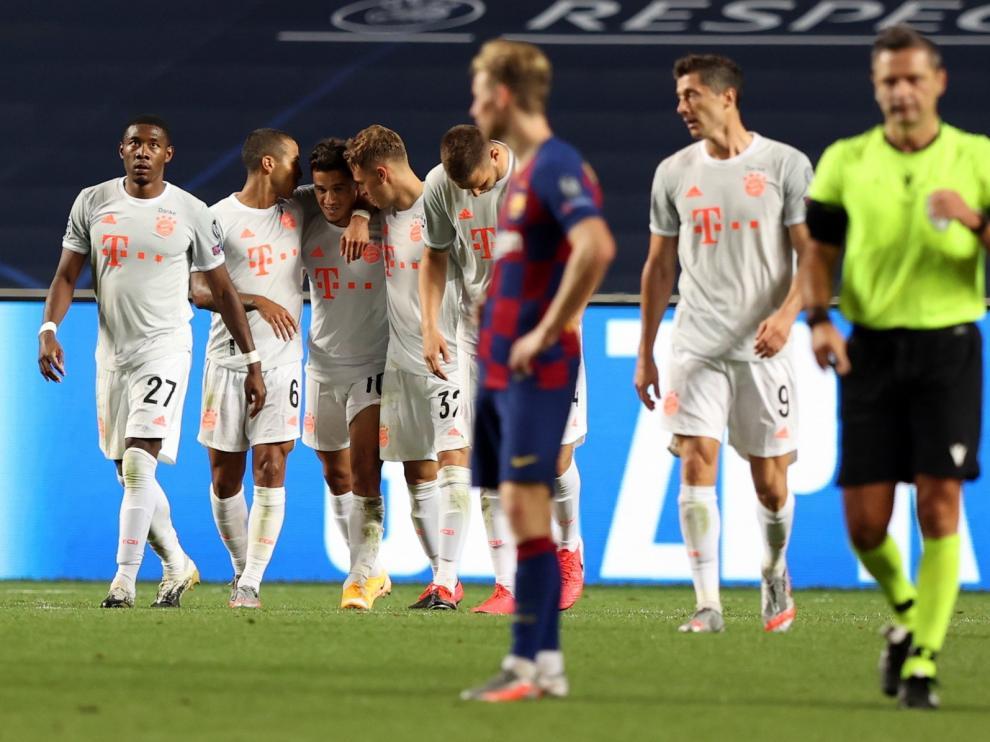 """El Bayern humilla al Barcelona y deja las """"semis"""" sin españoles"""