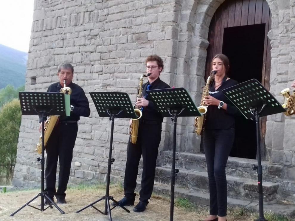 """El Cuarteto de Saxofones """"Ciudad de Sabiñánigo"""" clausura """"A son de Busa"""""""