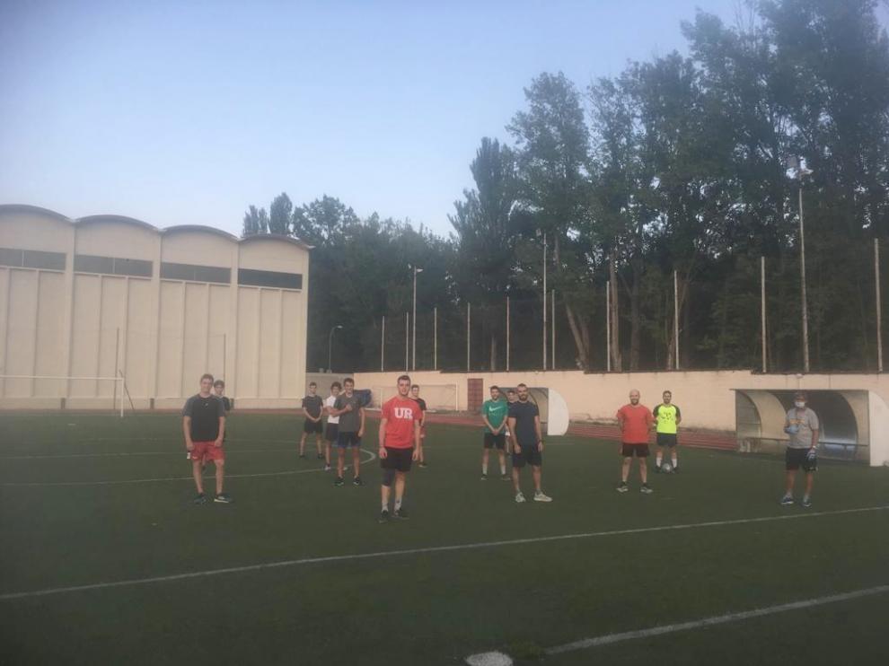 El Club Hielo Jaca comienza sus entrenamientos a nivel físico