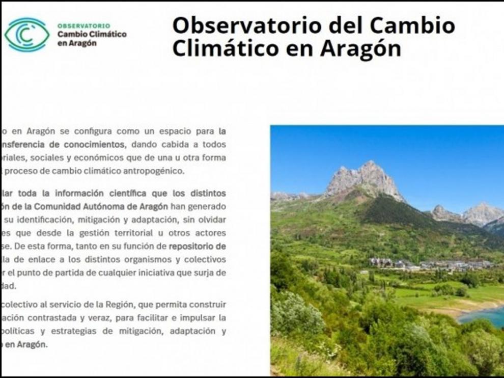 La web del Observatorio del Cambio Climático se abre a los investigadores