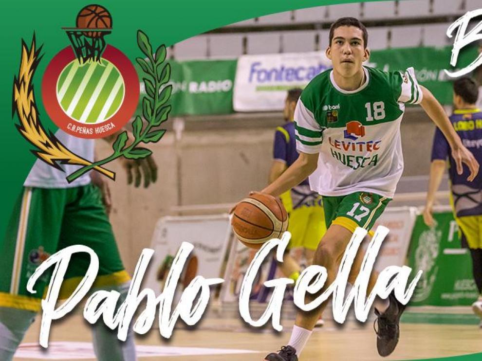 El canterano del Peñas Pablo Gella pasa a formar parte del primer equipo