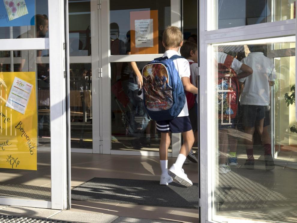 Aragón baraja el uso obligatorio de mascarillas en clase a partir de los 6 años