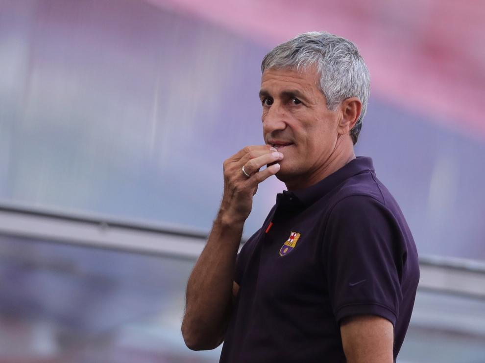 El Barcelona anuncia la destitución de Quique Setién