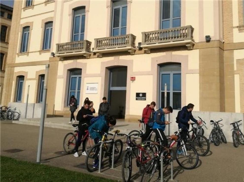 La mitad de las aulas del Campus de Huesca cuentan con cámara para alternar la enseñanza presencial y telemática