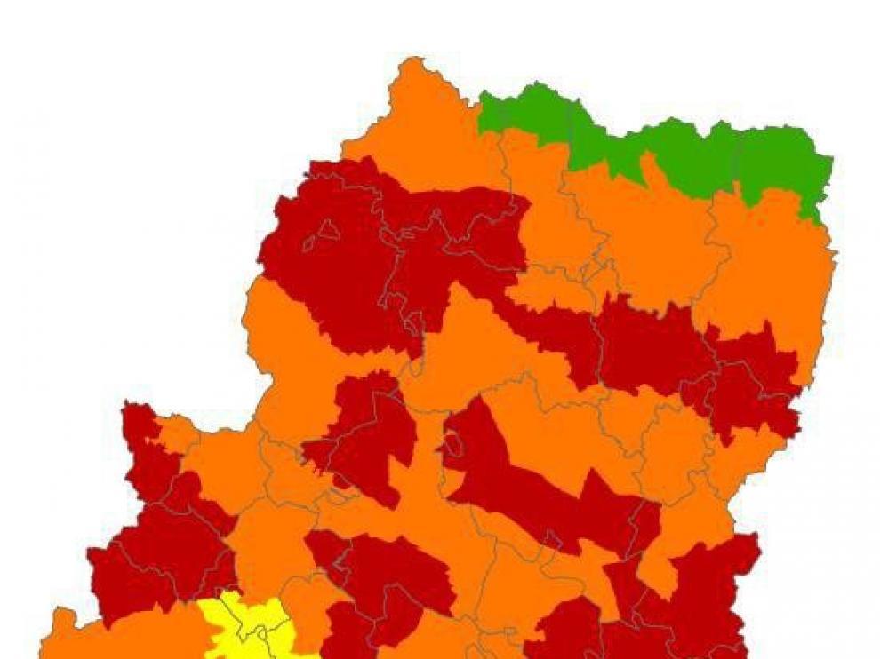 Se activa la alerta roja de peligro de incendios forestales en el Prepirineo y el Somontano