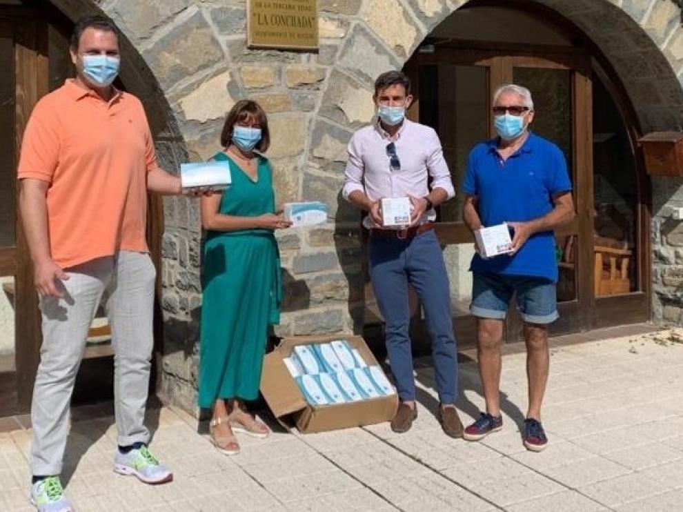 Donación de mil mascarillas a La Conchada de Biescas