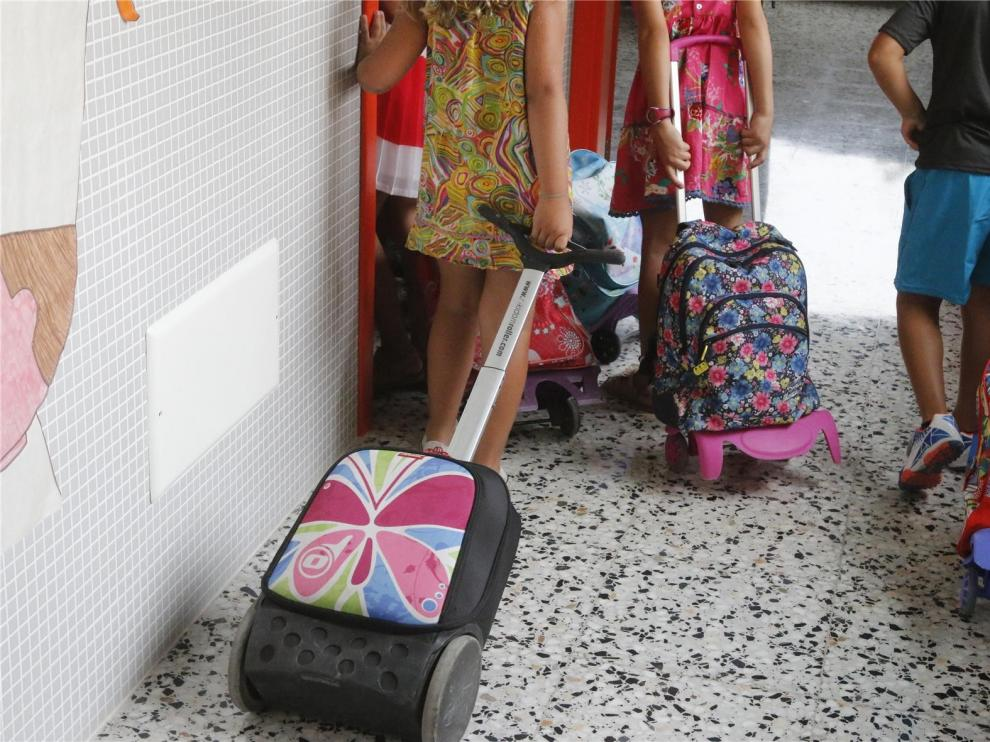 Los alumnos de Infantil y Primaria empezarán el curso en jornada continua en Aragón