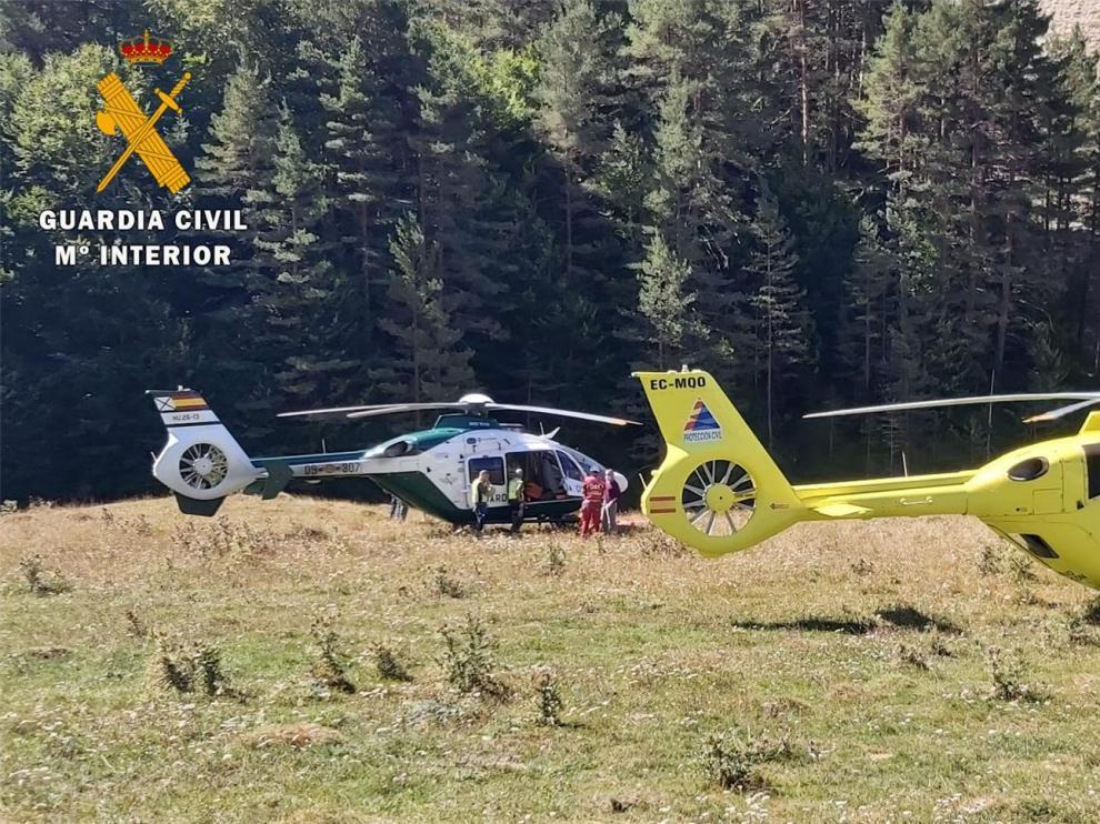 La Guardia Civil rescata en las montañas de Huesca a 25 personas en cuatro días