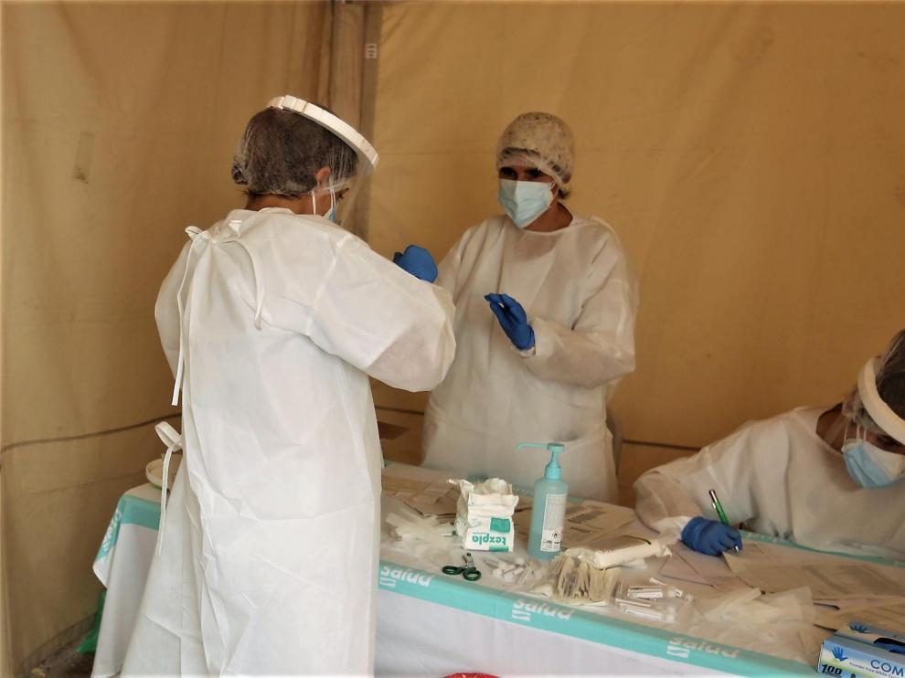 Detectados 34 nuevos casos de coronavirus en la provincia de Huesca este viernes, 20 de ellos en Fraga