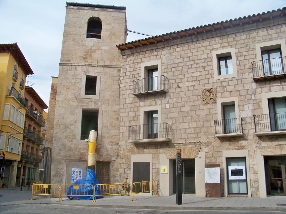 La obra del Torreón del Cegonyer de Fraga se encuentra en su recta final