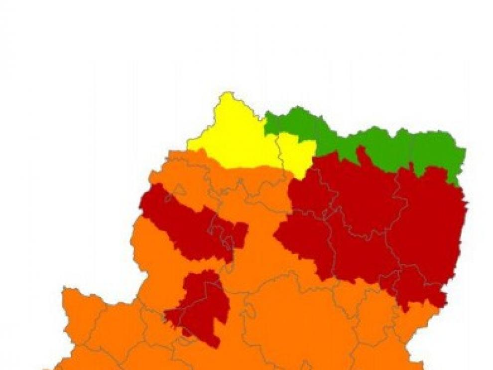 Alerta roja por peligro de incendios en el Pirineo oriental, Somontano y prepirineo este domingo