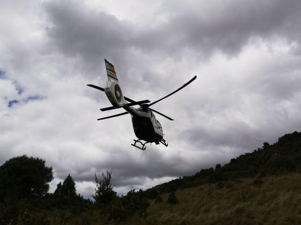 La Guardia Civil rescata a dos barranquistas extraviados en Bierge