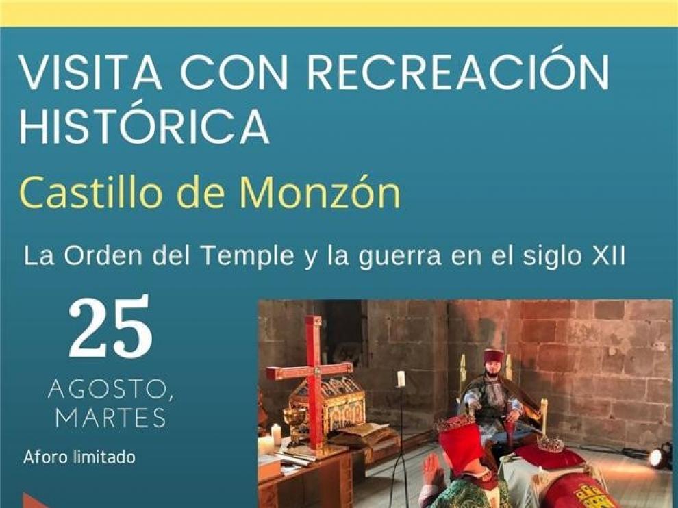 Agotadas las entradas de la visita al castillo de Monzón con recreación