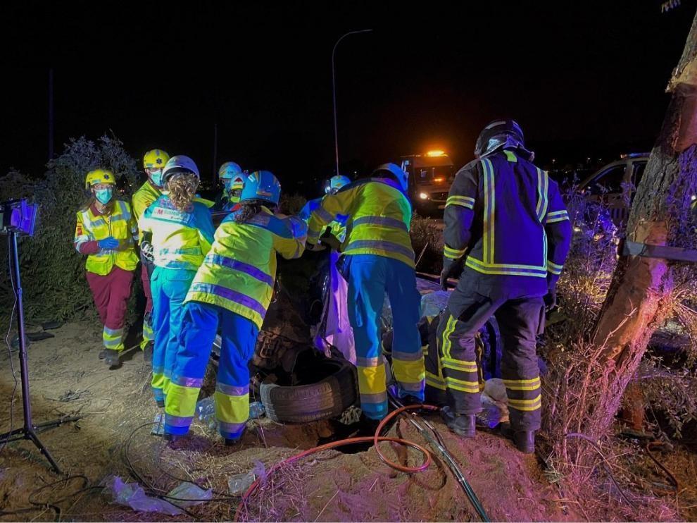 Buscan a los dos hombres fugados en el accidente mortal de Móstoles