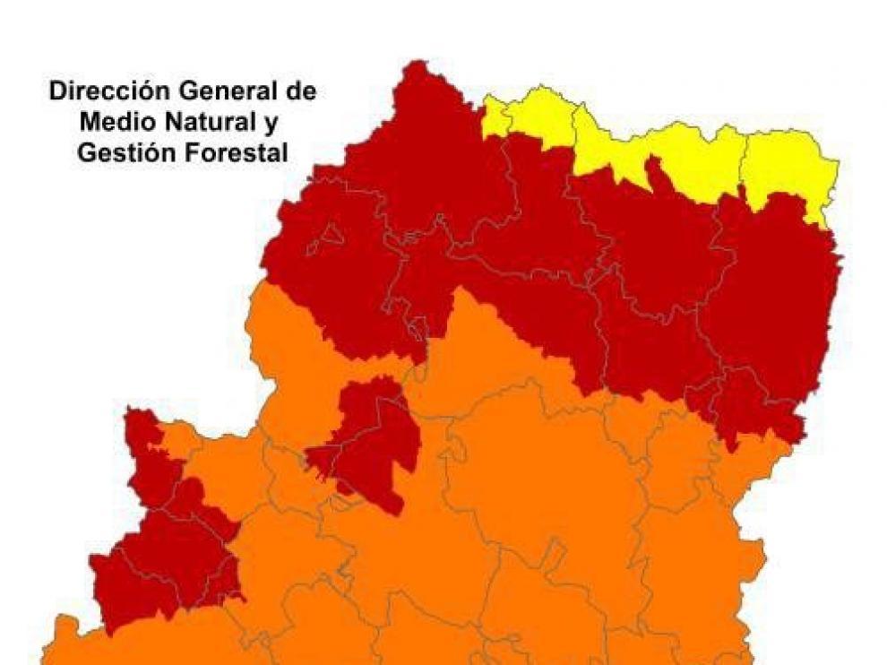 Alerta roja de peligro de incendios forestales en el Pirineo y prepirineo