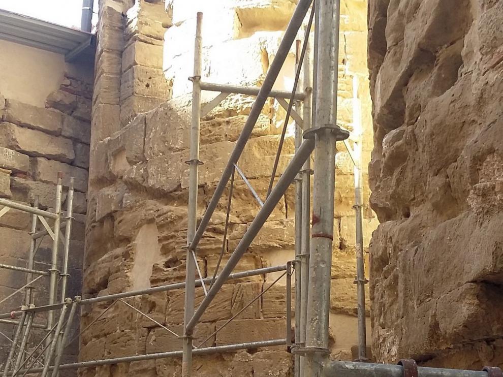 Comienzan en Huesca los trabajos de restauración de los ábsides de San Pedro el Viejo