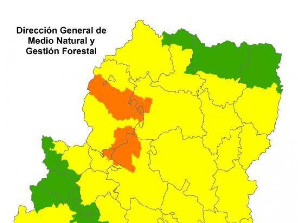Alerta naranja por peligro de incendios en el Somontano Oriental