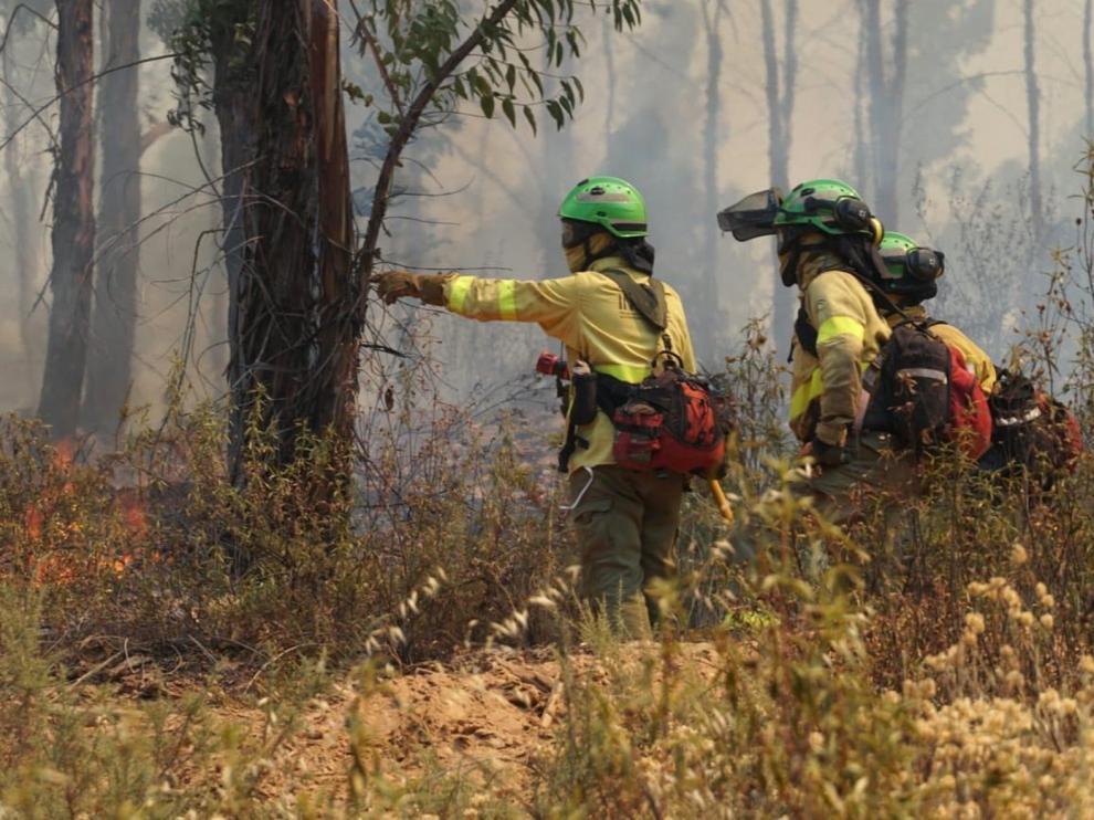 Estabilizado el incendio forestal de Huelva que ha afectado a 10.000 hectáreas