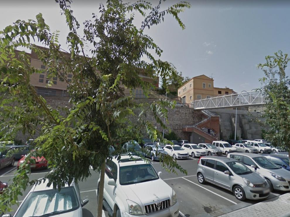 """Empieza la adecuación del parking de La Pista de Fraga como """"Zona Verde"""""""