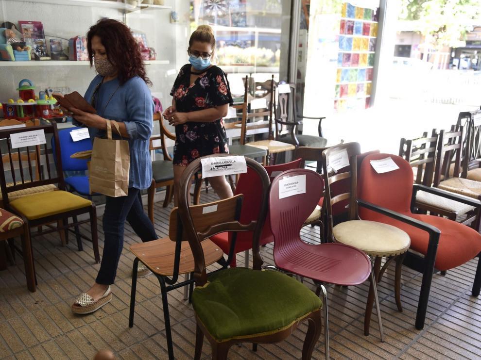 """Buen comienzo de la semana de """"La silla solidaria"""" de Cáritas"""