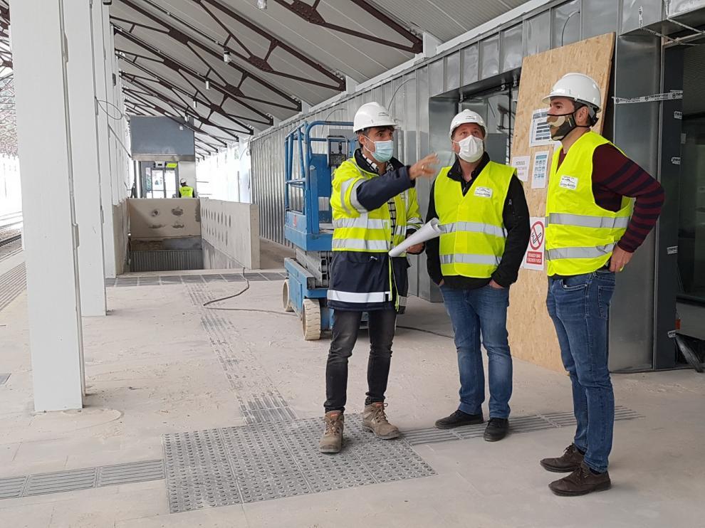 Comienzan las obras de urbanización en la explanada de la Estación Internacional de Canfranc