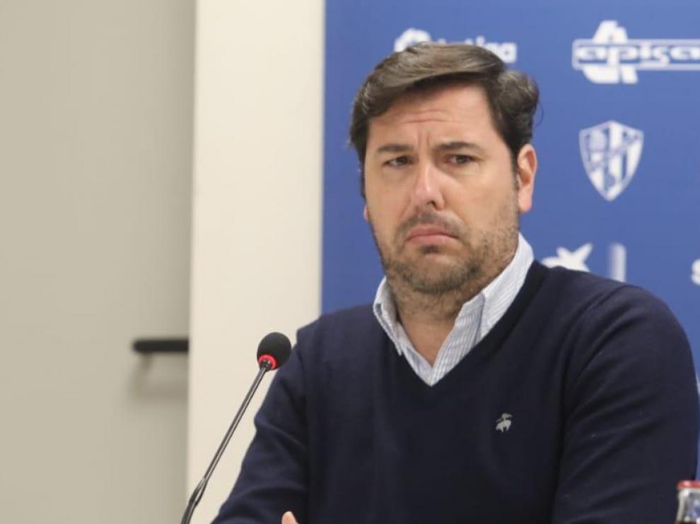 """Rubén García: """"El Huesca está en Primera para competir y ganar partidos"""""""