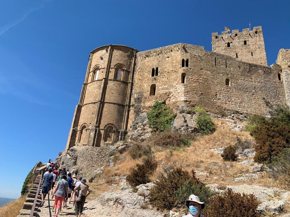 Las visitas al Castillo de Loarre bajan un 40 por ciento este verano
