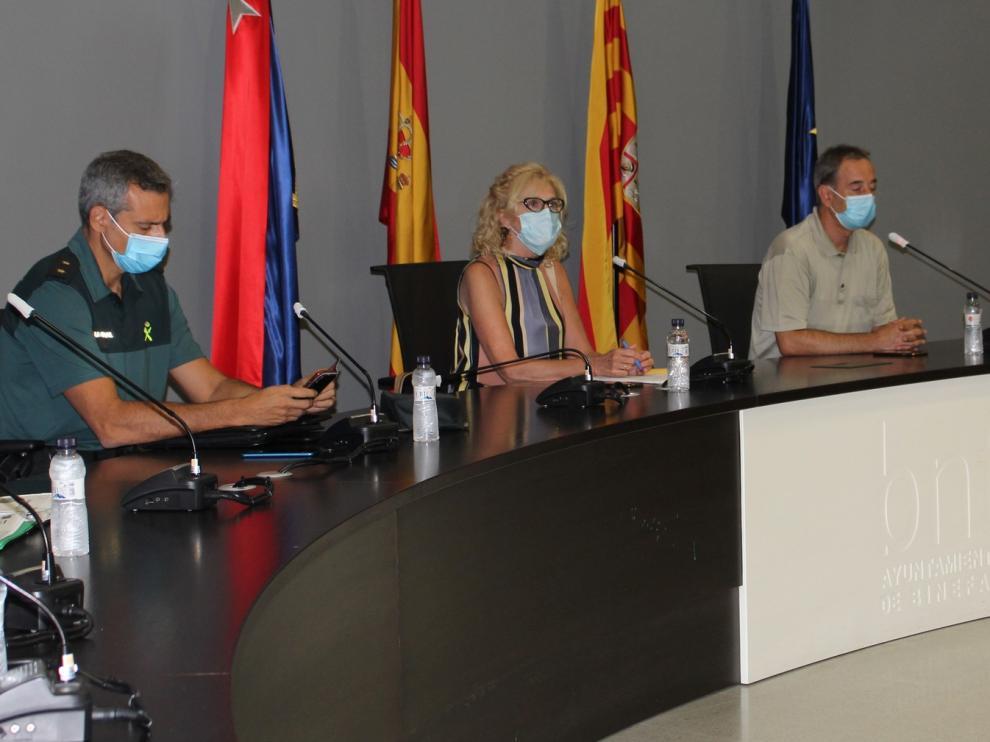 Junta de seguridad en Binéfar para preparar el dispositivo ante la suspensión de las fiestas patronales