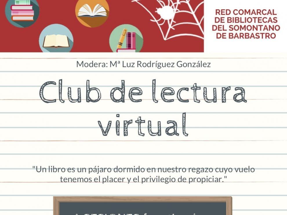 La Red Comarcal de Bibliotecas del Somontano organiza un club de lectura virtual