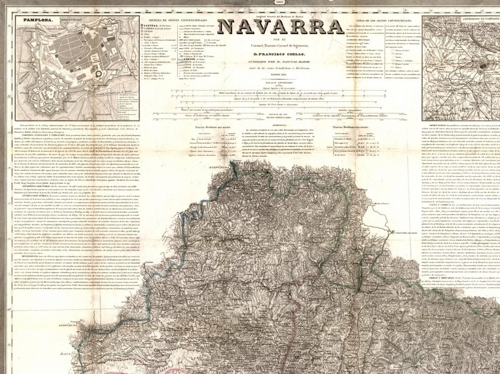 El Archivo de Navarra dedica su microexposición de septiembre a Pascual Madoz
