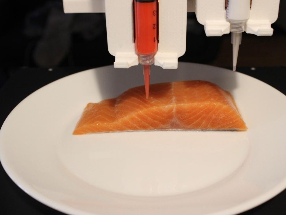 """Una empresa imprime un """"salmón vegano"""""""