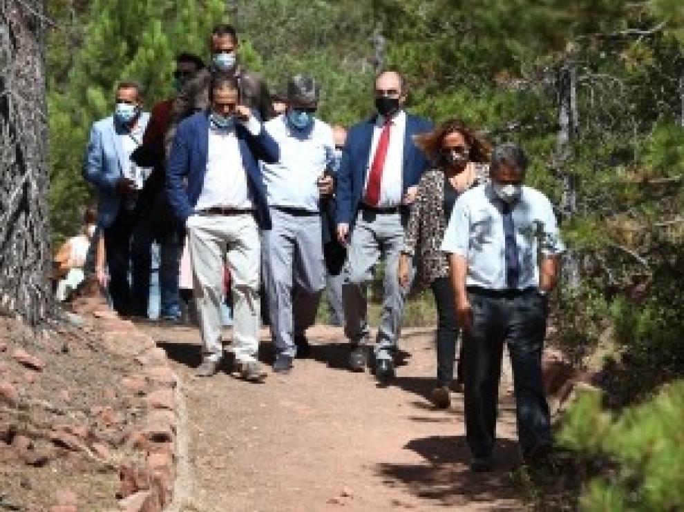 Lambán pone en valor el músculo del turismo de interior que ha capeado la temporada pese al azote de la pandemia