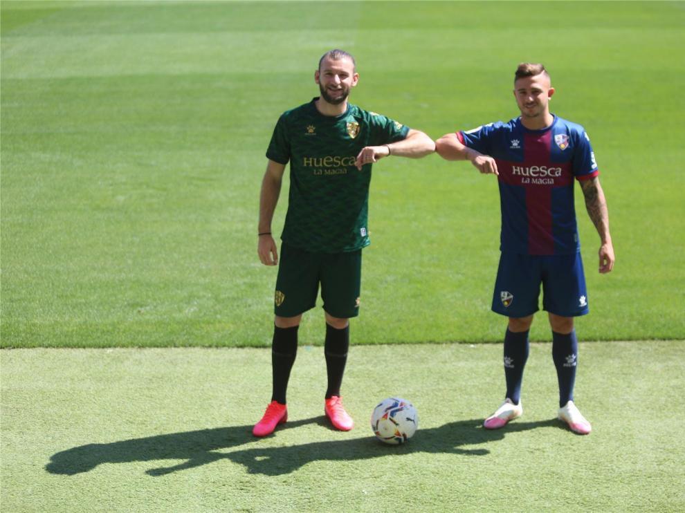 Gastón Silva y Maffeo llegan al Huesca con ganas de jugar ya y listos para el combate