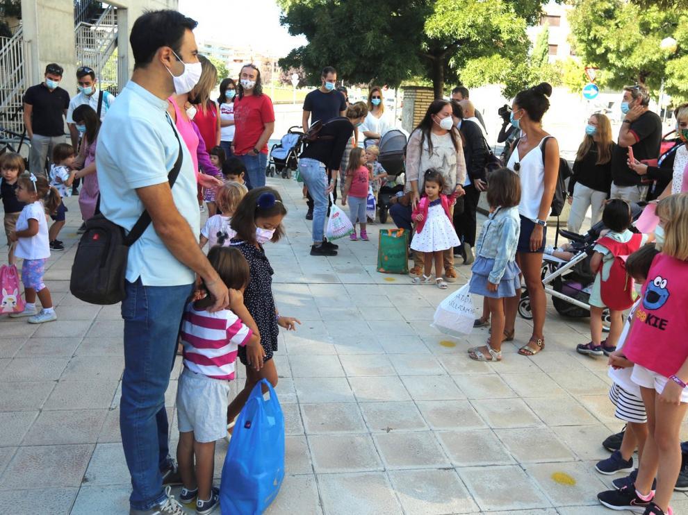 Las familias de Huesca están a la espera en el inicio del curso escolar pero manifiestan dudas