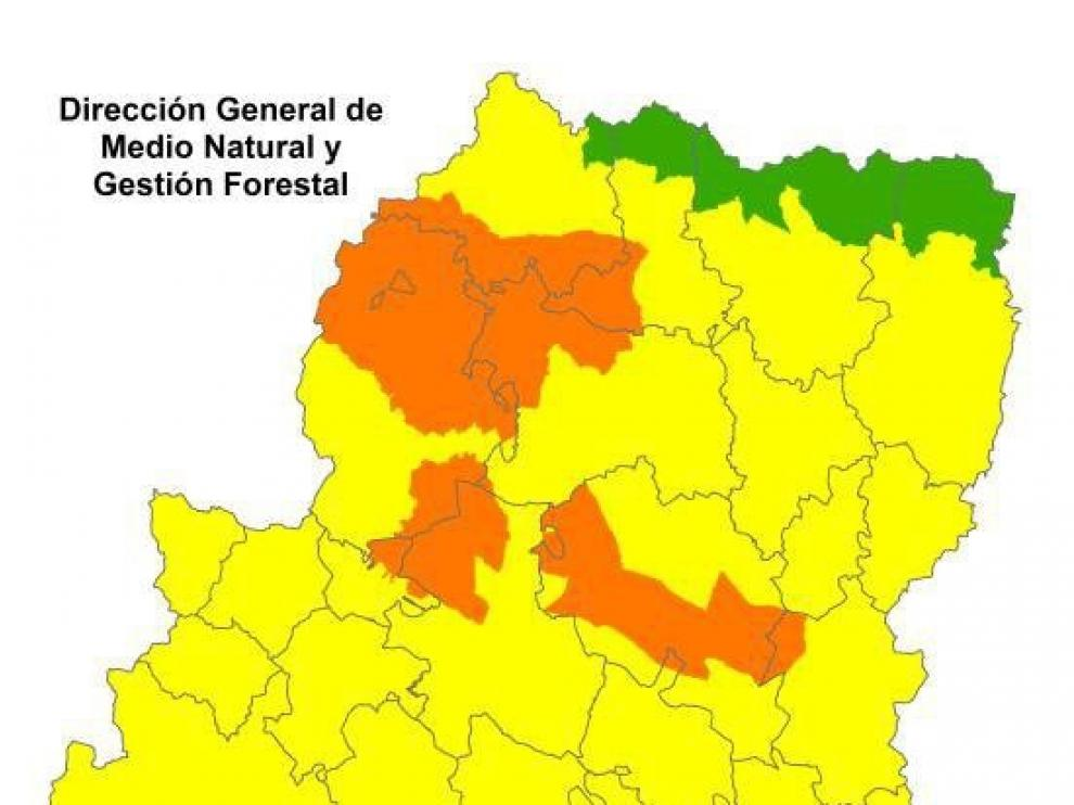 Alerta naranja por riesgo de incendios forestales en el Prepirineo y Somontano