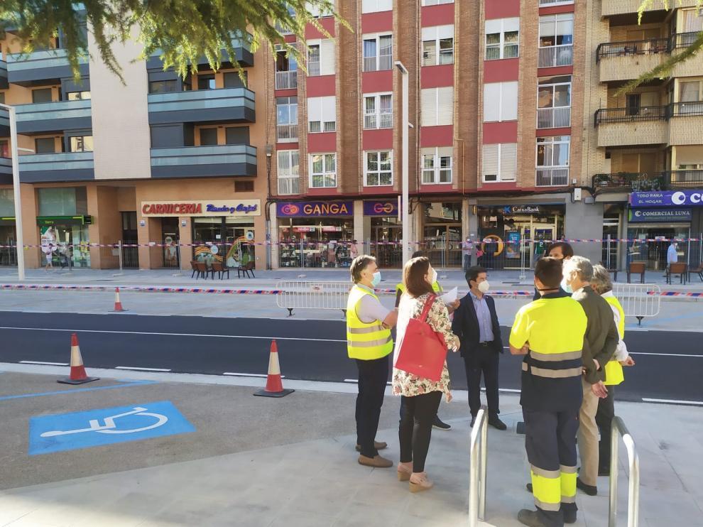 La segunda fase de las obras del paseo de Ramón y Cajal de Huesca finalizarán en menos de 15 días