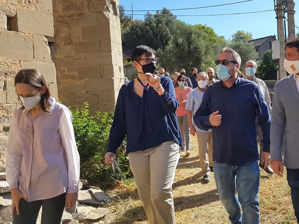 Finaliza la primera fase para la consolidación de la iglesia de Castejón de Sobrarbe