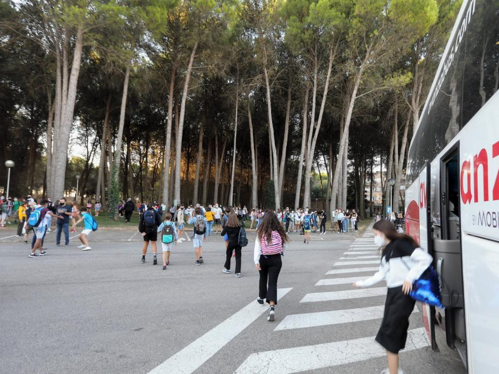 Continúa la incorporación  del alumnado de Secundaria en Huesca