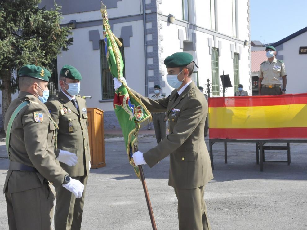 Alberto Pérez Montes toma el mando del Batallón Pirineos de Jaca