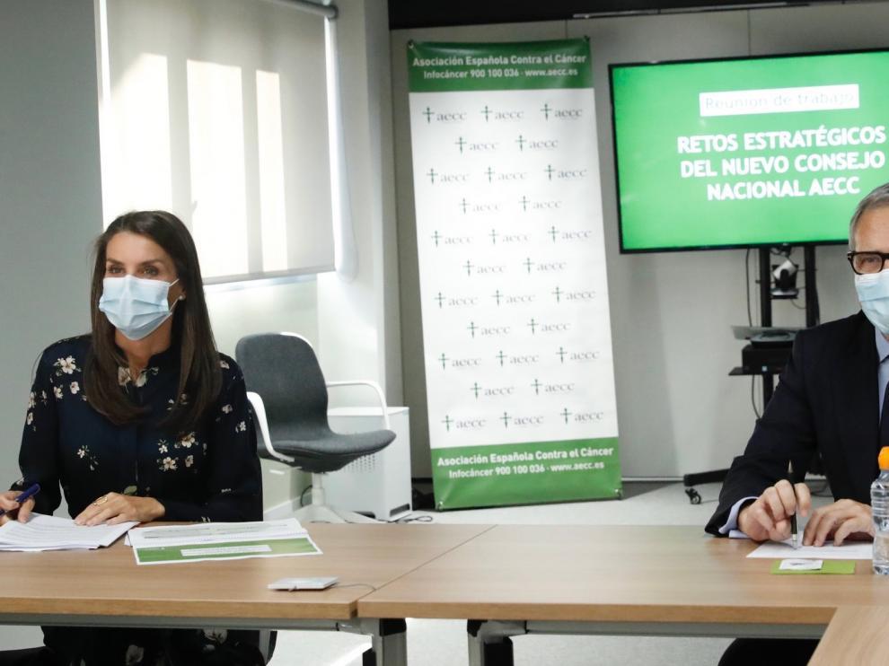 "Presentan a la reina Letizia las nuevas ayudas ""AECC Innova"""