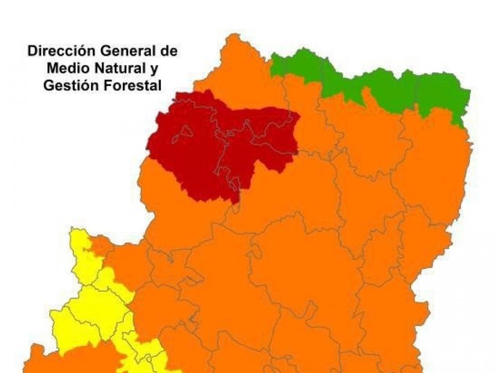 Alerta roja de incendios en el Prepirineo y Somontano occidentales