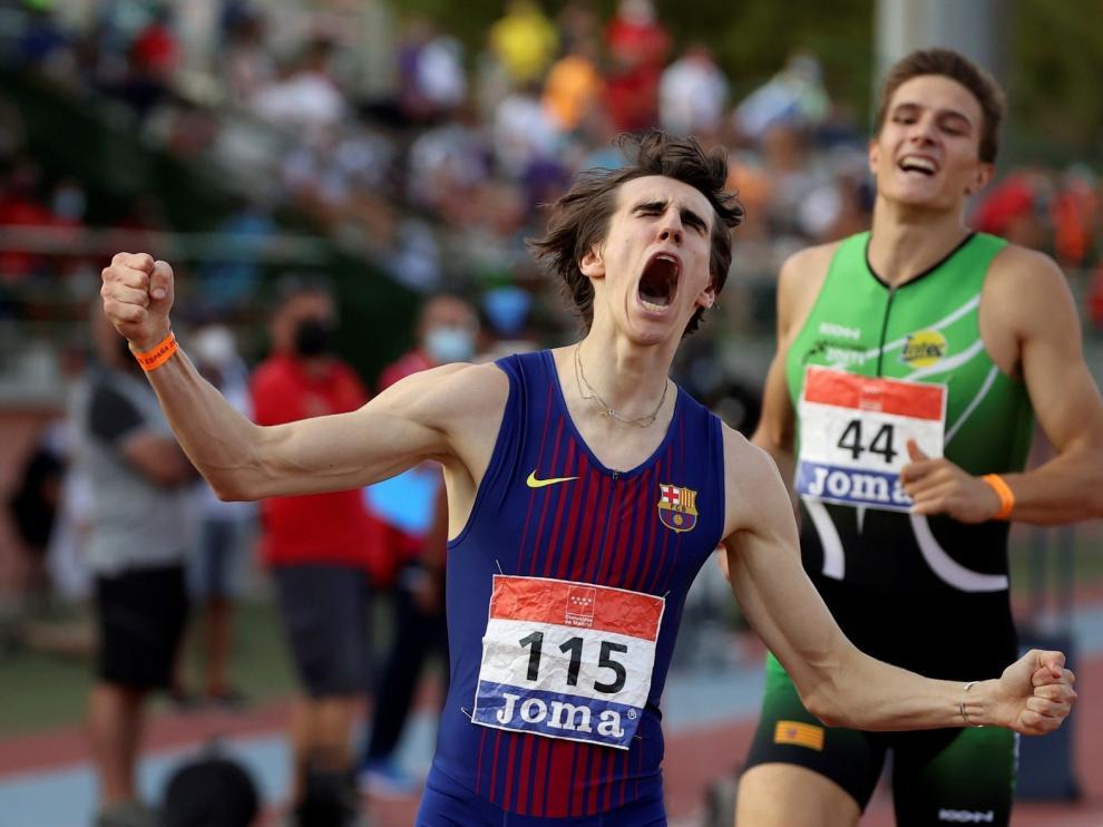 Christian Iguacel, bronce y récord de Aragón