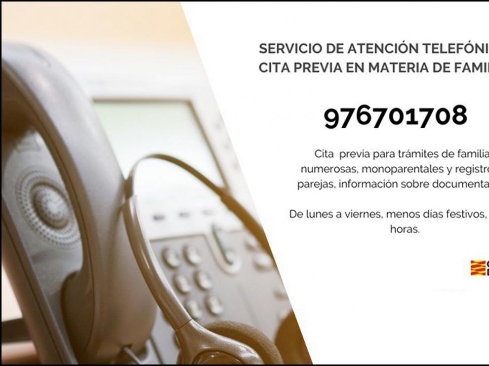 Aragón estrena un servicio de cita previa por teléfono para las familias