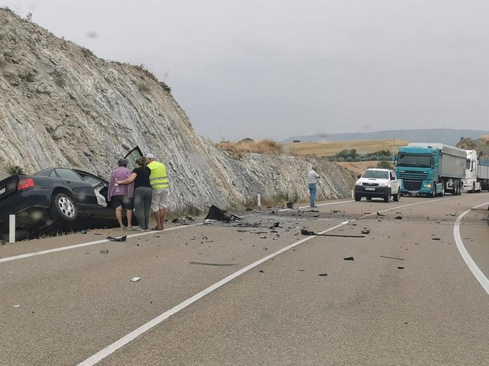 Muere un vecino de Peralta e Alcofea en un accidente de tráfico en la A-1226 entre Berbegal y Fornillos