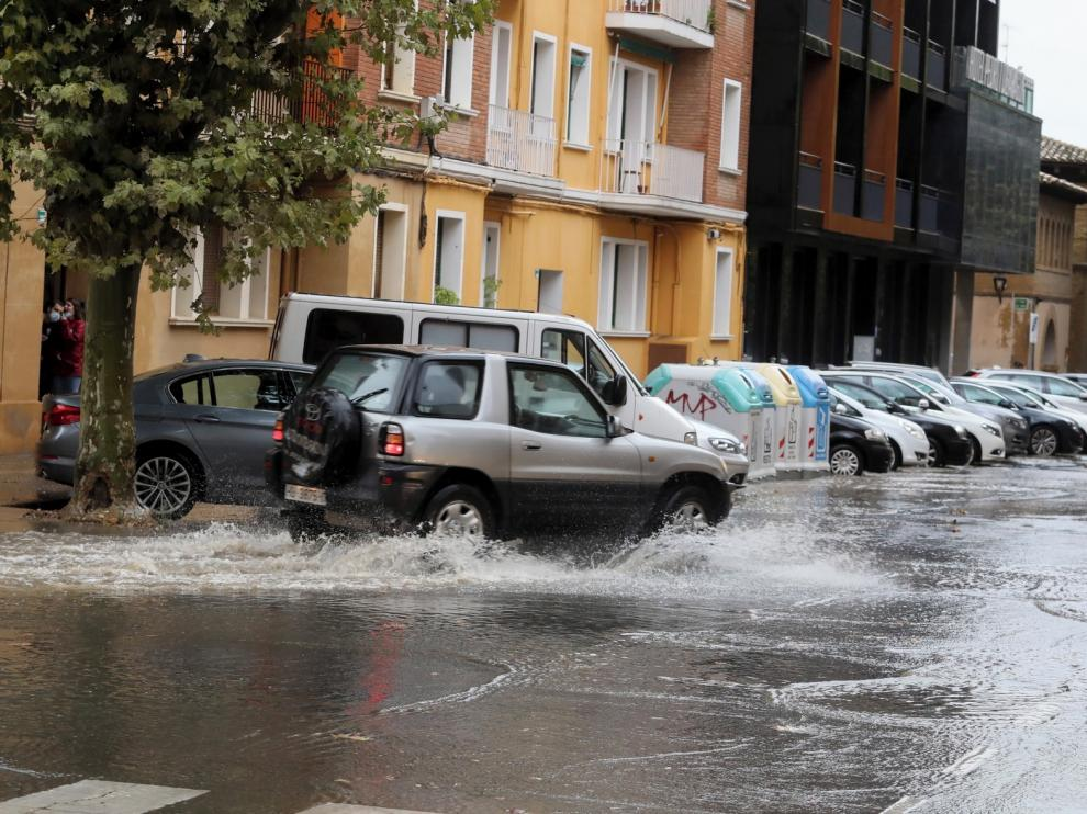 La lluvia regresa con intensidad a la ciudad de Huesca