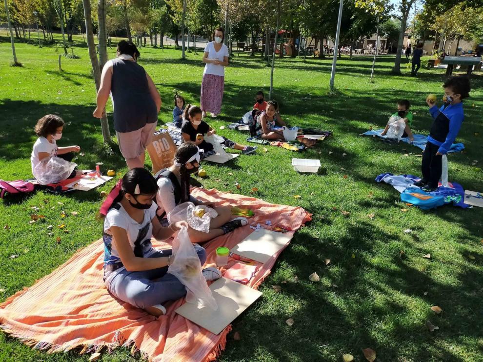 Taller de compostaje para escolares en San Esteban