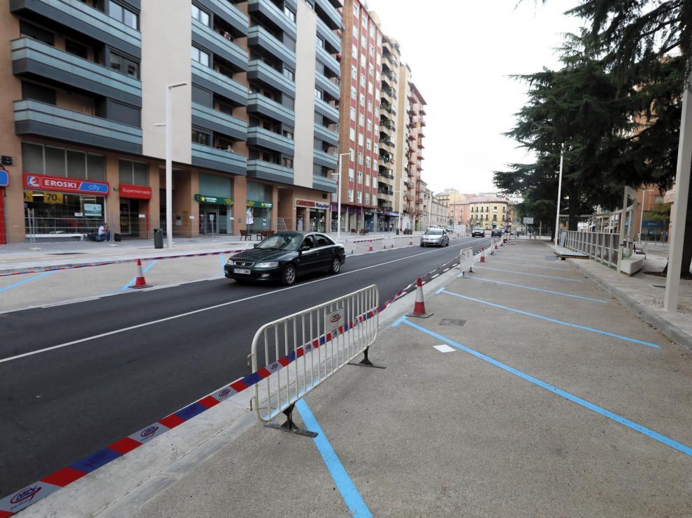 La segunda fase del paseo Ramón y Cajal de Huesca, lista para abrirse al tráfico