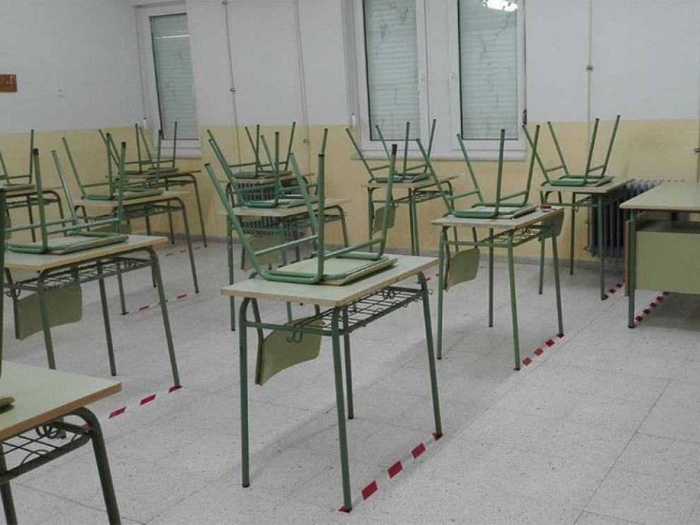 Cierran un aula de Primaria en el CEIP San Miguel de Tamarite de Litera