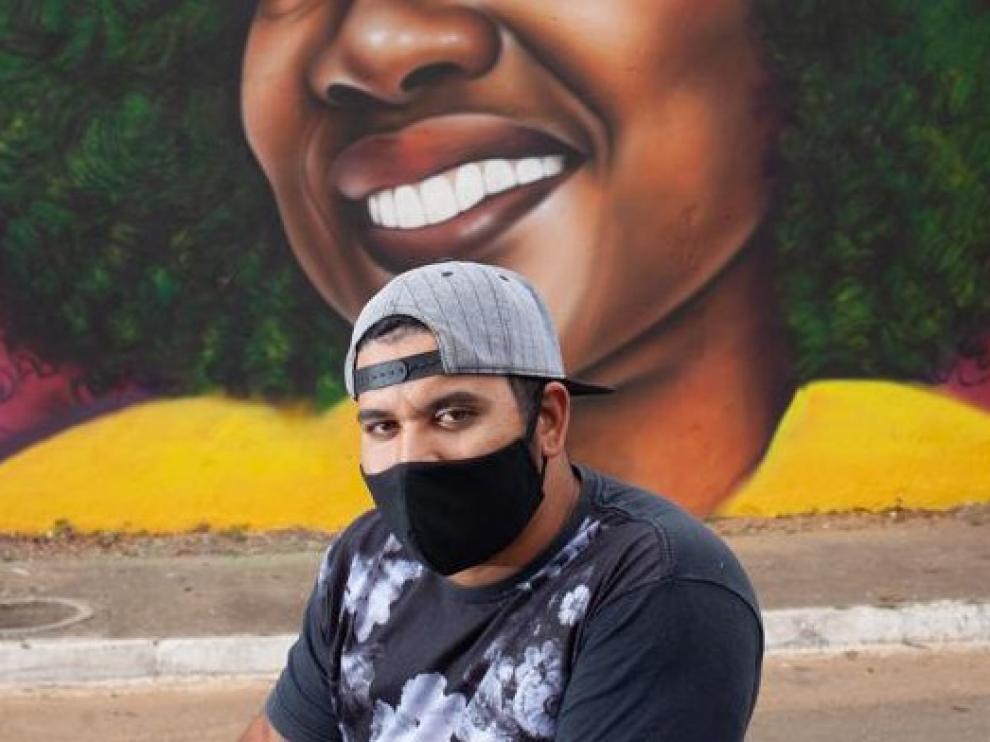 La actriz Viola Davis saca del anonimato a un humilde grafitero brasileño